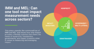 IMM and MEL: Can one tool meet impact measurement needs across sectors?